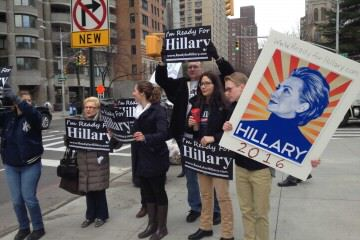 "Hillary Clinton super pac ""rally"""