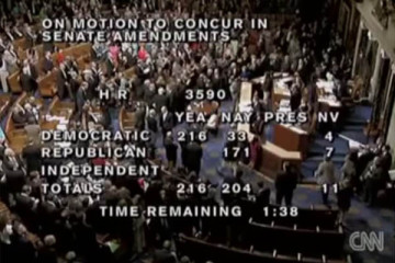 House Dems pass ObamaCare