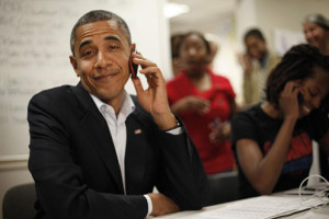 Obama-smiling-on-phone