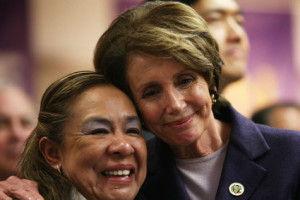 pelosi-hugs-office-cleaner